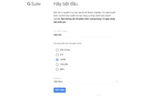 Cách đăng ký G Suite